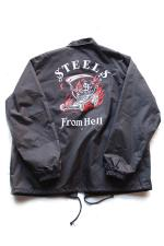 STEEL GRIMB DESIGN TRUCKER JACKET 【BLACK】