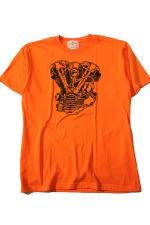 "SHOP SAM'S ""Knuckle""T-Shirt【ORANGE】"