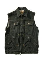 "RED TAiL ""Cross"" Denim Vest 【BLACK】"