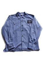 "SHOP SAM'S ""H.M.W BUILDER"" WORK SHIRTS 【BLUE】"