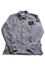 "SHOP SAM'S ""H.M.W BUILDER"" WORK SHIRTS 【NAVYxWH】"