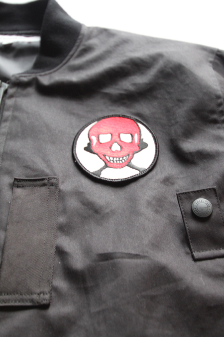 "INTERFACE ""RED SKULL"" COTTON MA-1 JKT 【BK】"