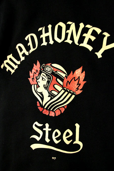 "STEEL ""MadHoney""ZIP PARKA 【BLACK】"