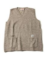 UNFINISH KNITVEST 【GRAY】