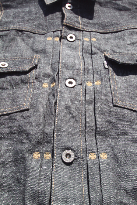 RED TAiL Cross Denim Vest 2nd 【BLUE】