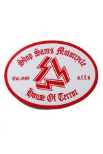 "SHOP SAM'S ""SS.MC""  STICKER 【RED】"