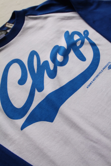 "SHOP SAM'S ""CHOP""3/4T-SHIRTS 【WHxBL】"