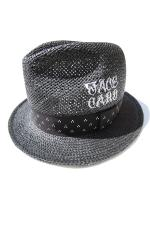 KUSTOMSTYLE NORM LOGO STRAW HAT 【BLACK】