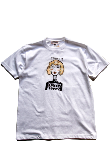 "WZ ""LOVELY DOVEY""T-SHIRTS 【WHITE】"