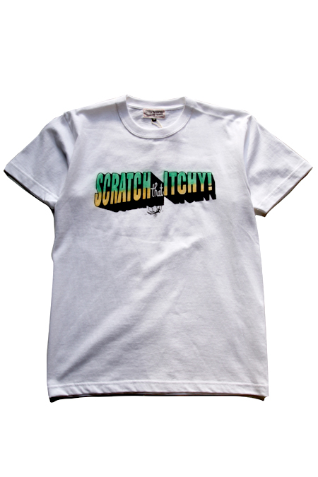 "WZ ""SCRATCH THE ITCHY""T-SHIRTS 【WHITE】"