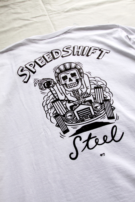STEEL GRIMB DESIG T-SHIRT  【WHITE】