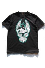 RED TAiL Bully Hood S/S T-Shirt 【BLACK】
