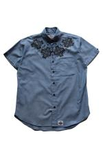UNFINISH CHIMAYO CHAMBRAY S/SHIRTS 【BLUE】