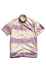 INTERFACE S/S STRIPE B.D SHIRTS 【WHT×YEL×ORG】