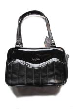 TROPHY QUEEN TUCK&ROLL TOTE 【BLACK POLISH】