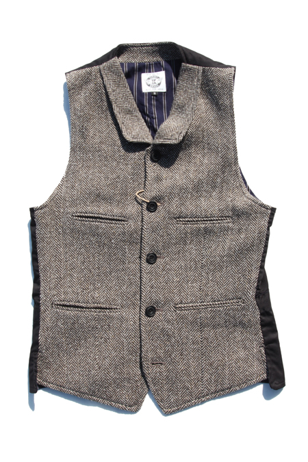 SIRANO BROS Railroad Special Vest 【Nep tweed】