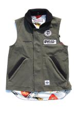 UNFINISH SAMSxUF WORK VEST 【GREEN】