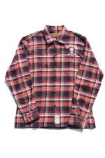 KUSTOMSTYLE CACTUS CHECK LS SHIRTS 【ORANGE】
