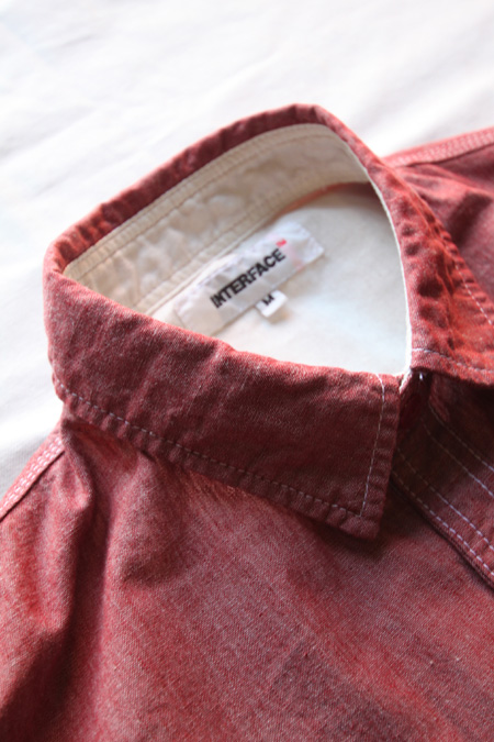 INTERFACE PAD CHAMBRAY SHIRTS 【RED】
