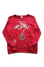 "R.D.C.S.inc Hell Rider"" CREWNECK 【RED PEPPER】"