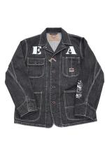 EVILACT WASHED BA COVERALL 【BLACK DENIM】